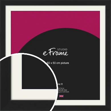 Iconic Gallery Black Picture Frame & Mount, 50x50cm (VRMP-1308-M-50x50cm)
