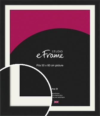 Iconic Gallery Black Picture Frame & Mount, 50x60cm (VRMP-1308-M-50x60cm)