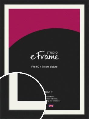 Iconic Gallery Black Picture Frame & Mount, 50x70cm (VRMP-1308-M-50x70cm)