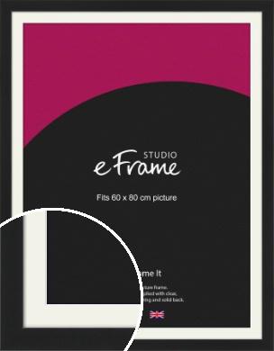 Iconic Gallery Black Picture Frame & Mount, 60x80cm (VRMP-1308-M-60x80cm)