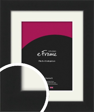 Iconic Gallery Black Picture Frame & Mount, 6x8