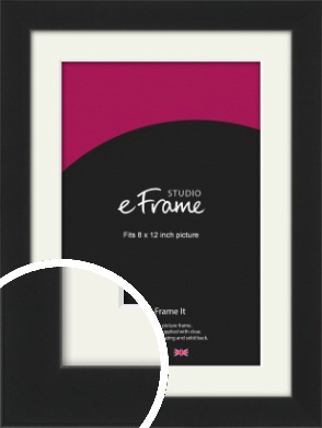 Iconic Gallery Black Picture Frame & Mount, 8x12