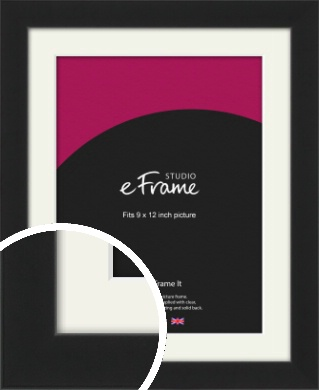 Iconic Gallery Black Picture Frame & Mount, 9x12