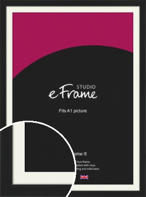 Iconic Gallery Black Picture Frame & Mount, A1 (594x841mm) (VRMP-1308-M-A1)
