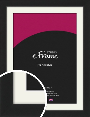 Iconic Gallery Black Picture Frame & Mount, A3 (297x420mm) (VRMP-1308-M-A3)