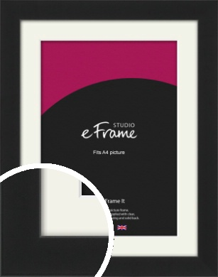 Iconic Gallery Black Picture Frame & Mount, A4 (210x297mm) (VRMP-1308-M-A4)