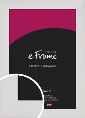 Simply White Picture Frame, 12x18