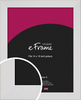 Simply White Picture Frame, 14x18