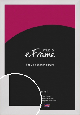 Simply White Picture Frame, 24x36