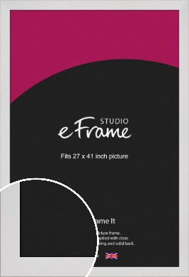 Simply White Picture Frame, 27x41