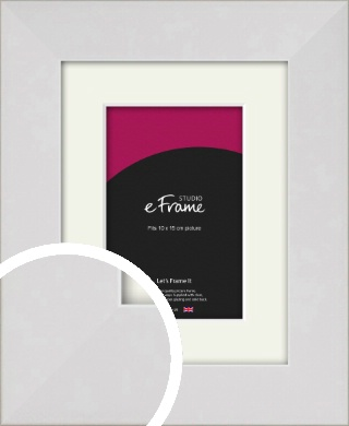 Simply White Picture Frame & Mount, 10x15cm (4x6