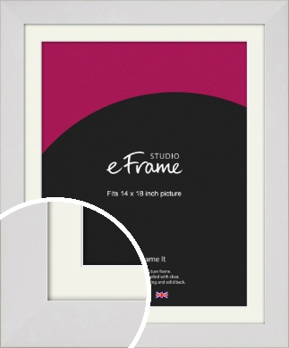 Simply White Picture Frame & Mount, 14x18