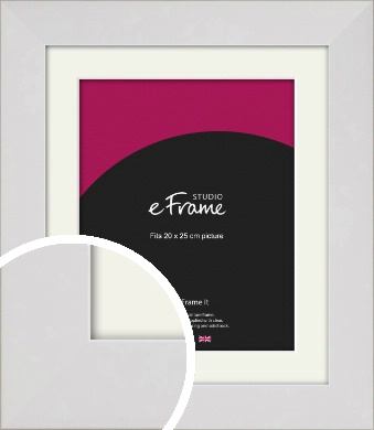 Simply White Picture Frame & Mount, 20x25cm (8x10