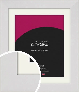 Simply White Picture Frame & Mount, 24x30cm (VRMP-1309-M-24x30cm)