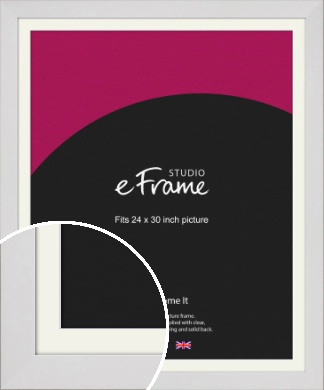 Simply White Picture Frame & Mount, 24x30