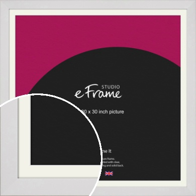 Simply White Picture Frame & Mount, 30x30