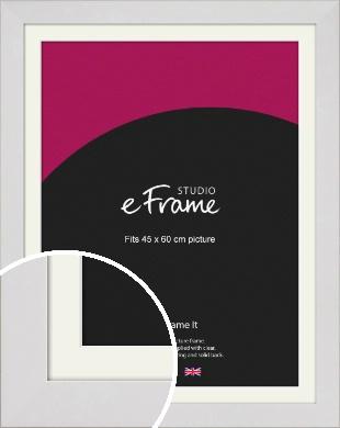 Simply White Picture Frame & Mount, 45x60cm (VRMP-1309-M-45x60cm)