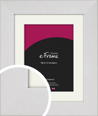 Simply White Picture Frame & Mount, 6x8
