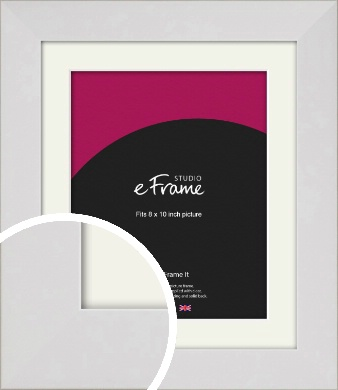 Simply White Picture Frame & Mount, 8x10