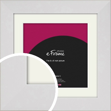 Simply White Picture Frame & Mount, 8x8