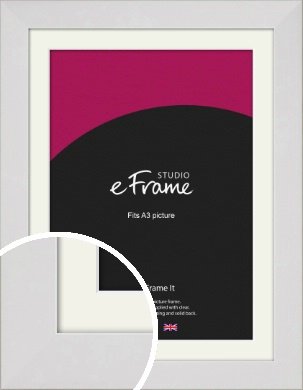 Simply White Picture Frame & Mount, A3 (297x420mm) (VRMP-1309-M-A3)