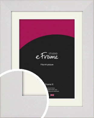 Simply White Picture Frame & Mount, A4 (210x297mm) (VRMP-1309-M-A4)