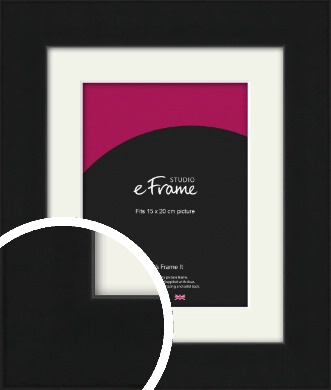 Flat Gallery Black Picture Frame & Mount, 15x20cm (6x8