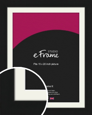 Flat Gallery Black Picture Frame & Mount, 15x20