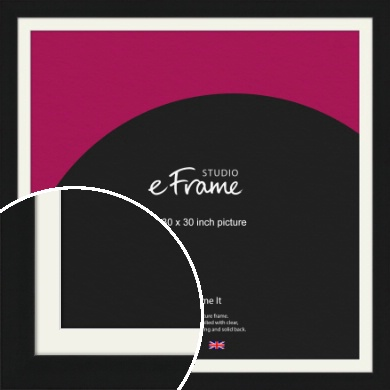 Flat Gallery Black Picture Frame & Mount, 30x30