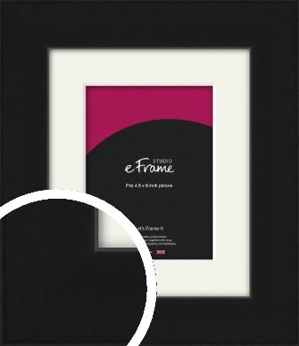 Flat Gallery Black Picture Frame & Mount, 4.5x6