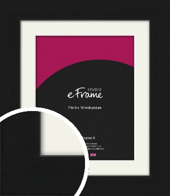 Flat Gallery Black Picture Frame & Mount, 8x10