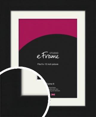 Flat Gallery Black Picture Frame & Mount, 9x12