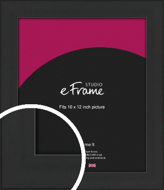 Stylish Wide Black Picture Frame, 10x12