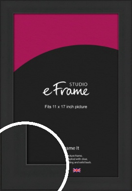 Stylish Wide Black Picture Frame, 11x17