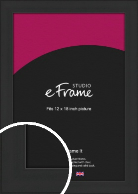 Stylish Wide Black Picture Frame, 12x18