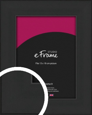 Stylish Wide Black Picture Frame, 13x18cm (5x7
