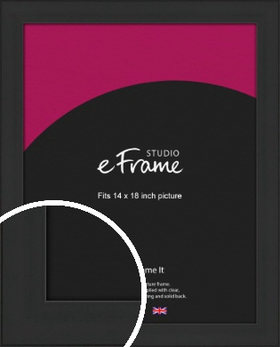 Stylish Wide Black Picture Frame, 14x18