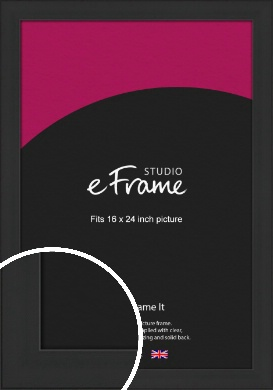 Stylish Wide Black Picture Frame, 16x24