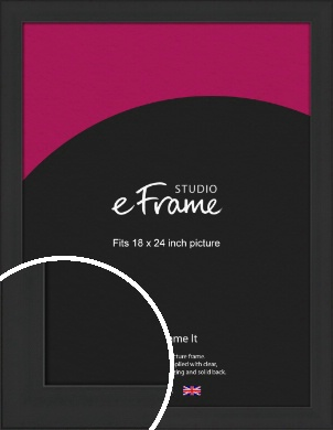 Stylish Wide Black Picture Frame, 18x24