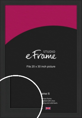 Stylish Wide Black Picture Frame, 20x30