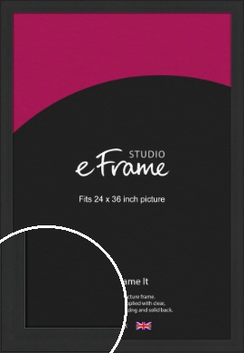 Stylish Wide Black Picture Frame, 24x36