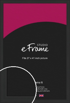 Stylish Wide Black Picture Frame, 27x41