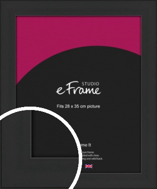 Stylish Wide Black Picture Frame, 28x35cm (VRMP-1311-28x35cm)