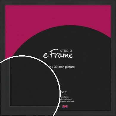 Stylish Wide Black Picture Frame, 30x30