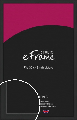 Stylish Wide Black Picture Frame, 30x48