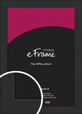 Stylish Wide Black Picture Frame, A3Plus (VRMP-1311-329x483mm)