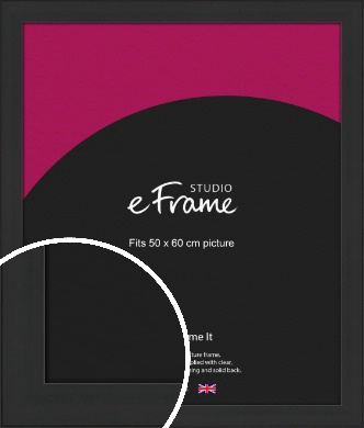 Stylish Wide Black Picture Frame, 50x60cm (VRMP-1311-50x60cm)