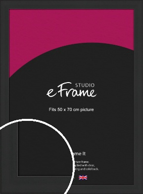 Stylish Wide Black Picture Frame, 50x70cm (VRMP-1311-50x70cm)