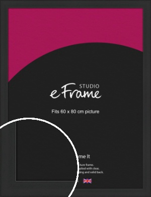 Stylish Wide Black Picture Frame, 60x80cm (VRMP-1311-60x80cm)