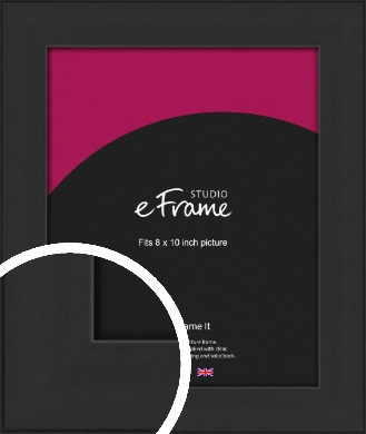 Stylish Wide Black Picture Frame, 8x10